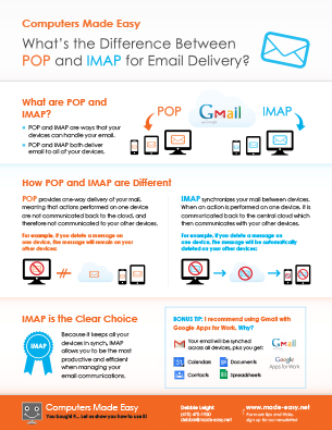 What are POP and IMAP?